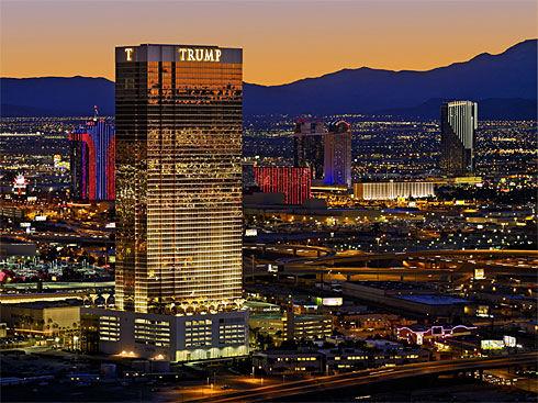 picture of the las vegas strip hotels. Trump Hotel Las Vegas